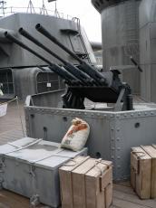 大和セット「左舷側、副砲ちかくの機銃」