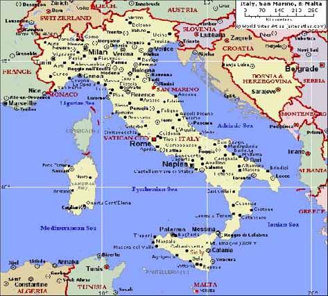 イタリア地図