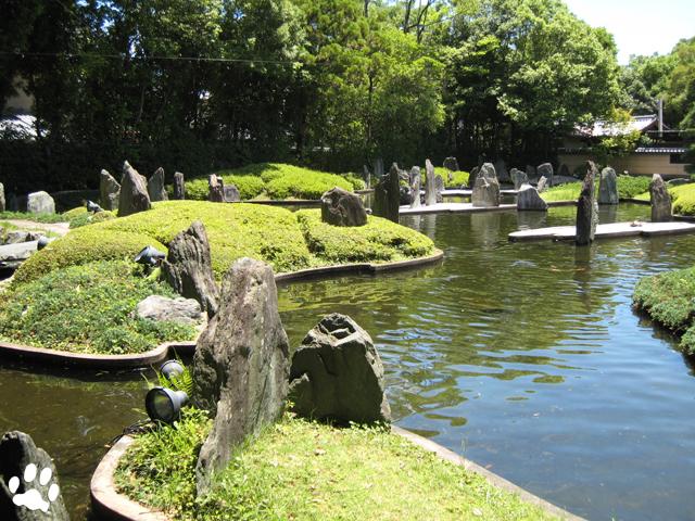 松風苑の一つ蓬莱の庭