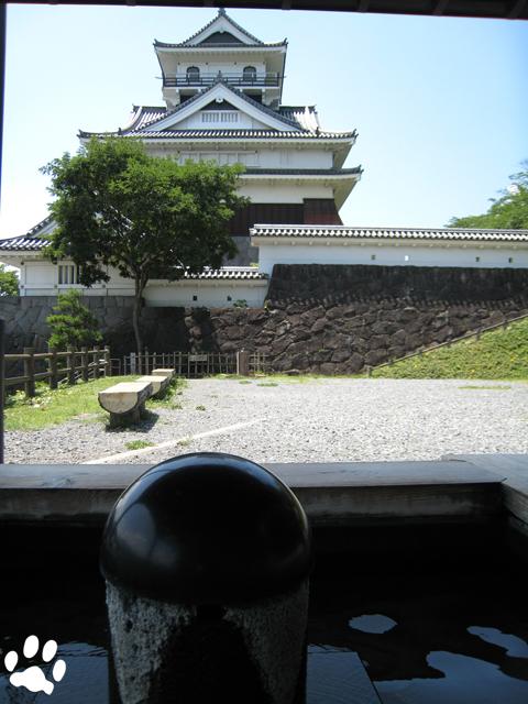 上山城と足湯