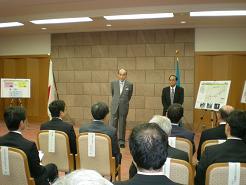 上坂会長から美し景観を創る会紹介と活動報告を