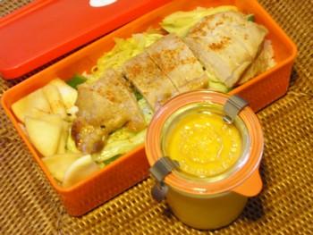 豚テキ丼マンゴープリン弁当