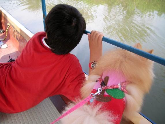 舟を楽しむ 次男とLOVE