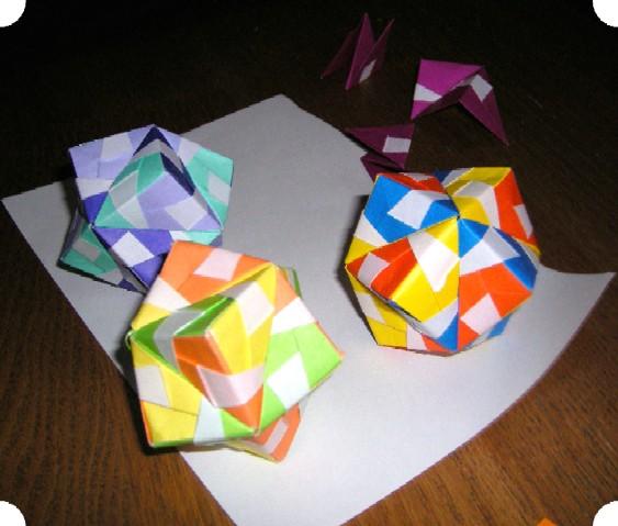 直の作品 折り紙の手毬