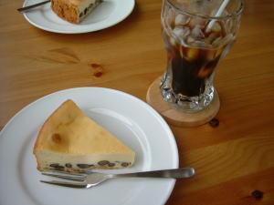 黒豆のチーズケーキ