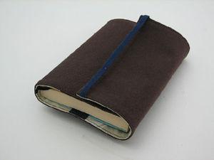 ブックカバー、使用後①布で包む