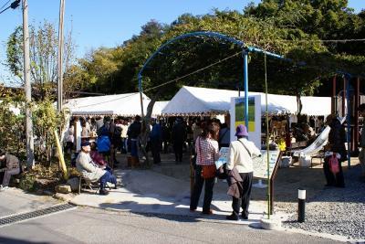 アートとコメの収穫祭会場