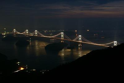 亀老山 展望台 来島大橋 ライトアップ