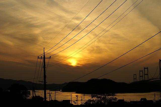 大島 夕焼け