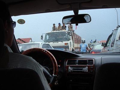 シェムリアップ 交通渋滞