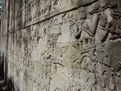 アンコール・トム バイヨン寺院 レリーフ