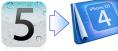 iOS5_iOS4