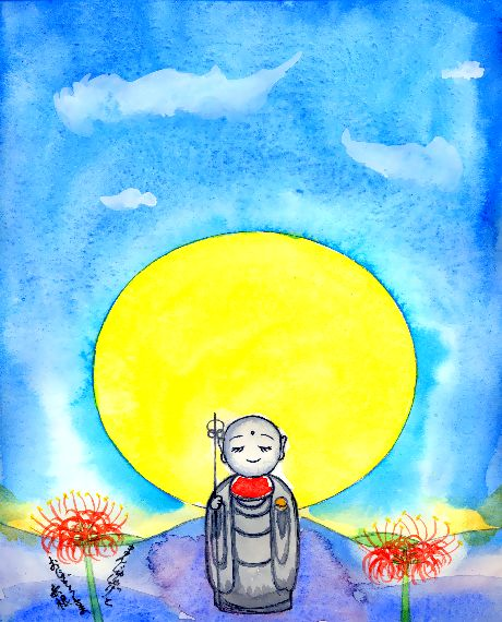 童画作家・秋野赤根のセンチメンタル・ロマン「遠い日の情景」まんじゅしゃげとおじぞうさま