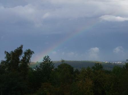 虹がかかった!