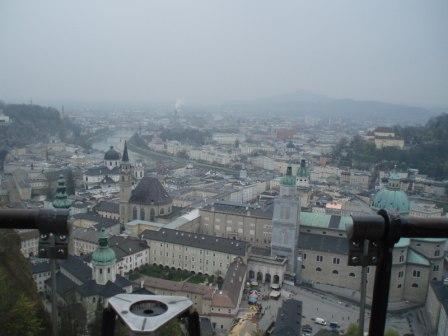 ホーエンザルツブルグ城塞からの景色