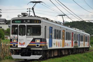 2011年6月21日 上田電鉄別所線 寺下~神畑 1000系1003F 自然と友だち2号