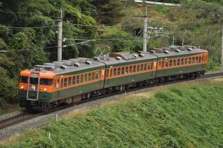 2010年10月9日 JR東日本篠ノ井線 稲荷山~姨捨 しなの鉄道169系S52編成