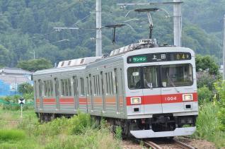 2011年7月30日 上田電鉄別所線 別所温泉~八木沢 1000系1004F