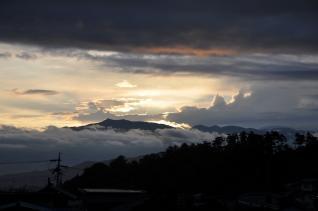 2011年7月31日 烏帽子岳夜明け