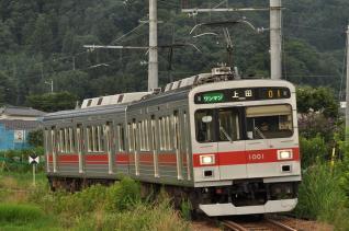 2011年7月31日 上田電鉄別所線 別所温泉~八木沢 1000系1001F