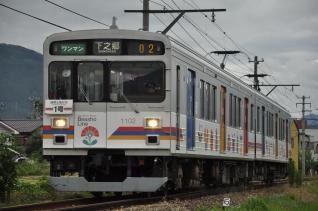 2011年7月31日 上田電鉄別所線 大学前~下之郷 1000系1002F
