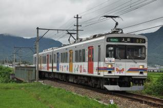 2011年7月31日 上田電鉄別所線 下之郷~大学前 1000系1002F