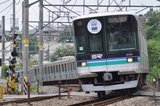 2011年8月2日 東急目黒線 田園調布~奥沢 埼玉高速2000系2103F