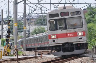 2011年8月2日 東急目黒線 田園調布~奥沢 9000系9012F