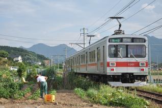 2011年8月11日 上田電鉄別所線 寺下~神畑 1000系1001F