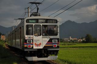 2011年8月11日 上田電鉄別所線 寺下~神畑 1000系1003F