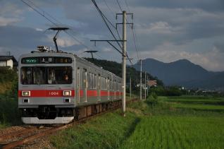 2011年8月11日 上田電鉄別所線 寺下~神畑 1000系1004F