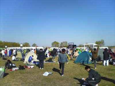 荒川市民マラソン会場風景