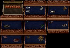 上中:Plate Of Honor/上右:Assassin Armor/中左:Greymist Armor/中中:Hunter's Garb/中右:Elven Leafweave/下左:Myrmidon Armor/下中:Death's Essence