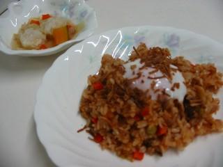 トマト味炊き込みご飯
