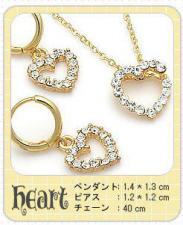 ゴールドネックレス&ピアスセット『Heart』
