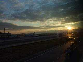 フランクフルト空港からの景色