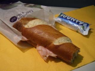 フランクフルト便の機内食