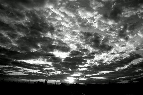 夜と雲と太陽