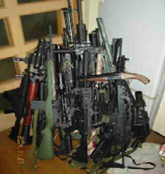 押収した銃火器