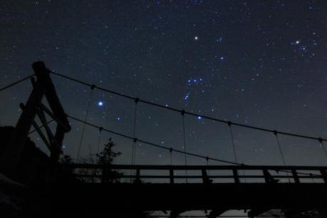 河童橋と星空