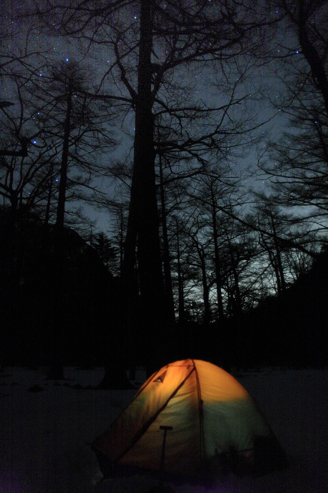 テント場の星空