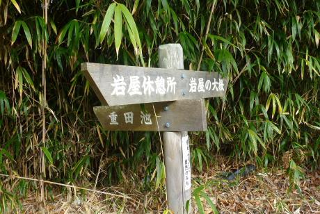 大桜分岐の道標