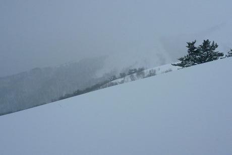 トレースの消えた雪原