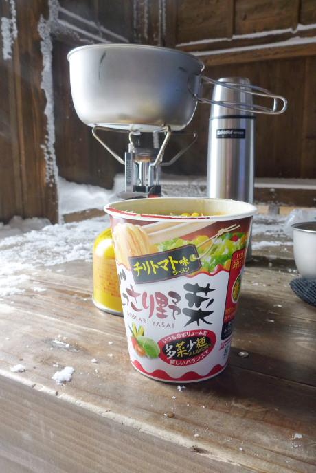 チリトマト味のラーメン