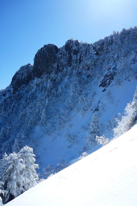 天狗岳の岩峰