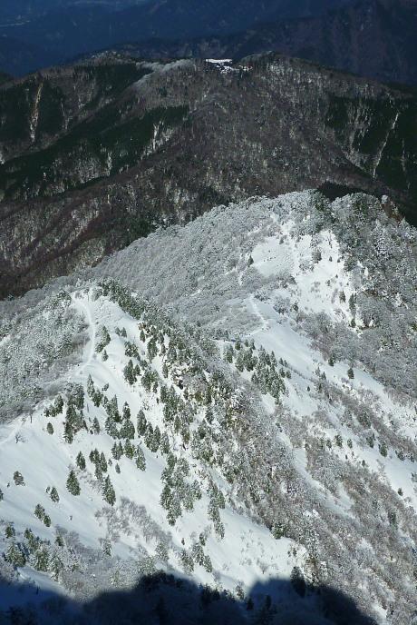 山頂から成就コース