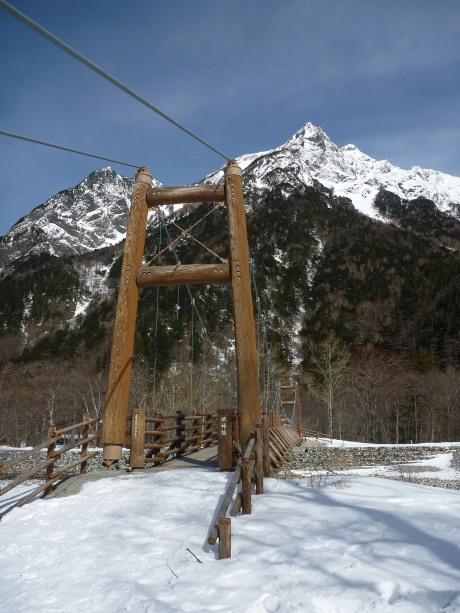 明神のつり橋