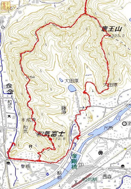 和気アルプスGPSマップ1