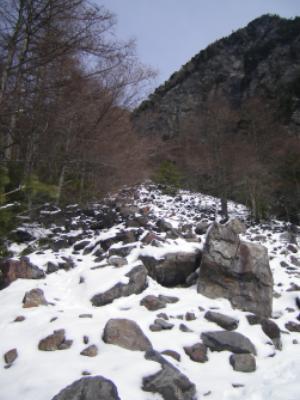 角兵衛沢にも雪