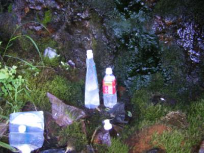 大岩下岩小屋の水場